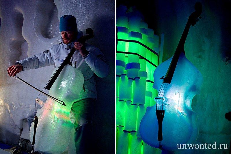Ледяная виолончель и ледяной контрабас Тима Линхарта