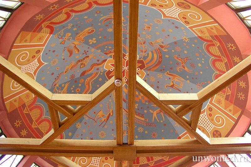 Роспись купола музея Писанки в стиле пасхальной росписи
