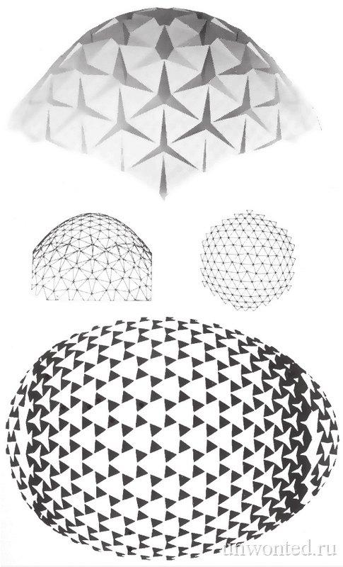 Эскиз огромного пасхального яйца из повторяющихся геометрических модулей