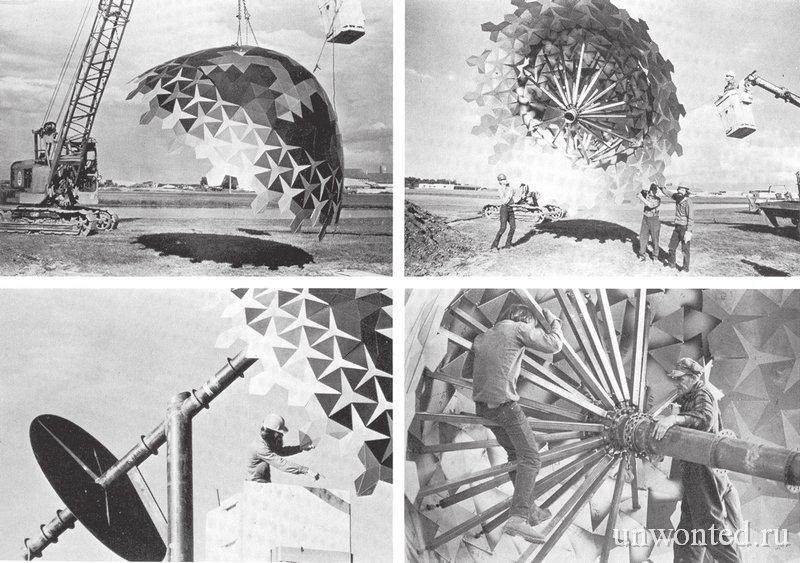 Сборка скульптуры самого большого пасхального яйца в мире