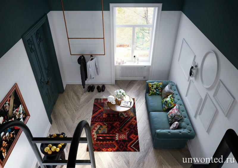 Квартира студия с антресолью в Люблине