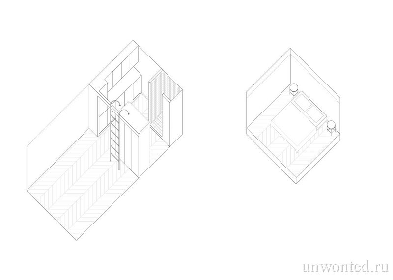 Проект квартиры с антресолью в Люблине