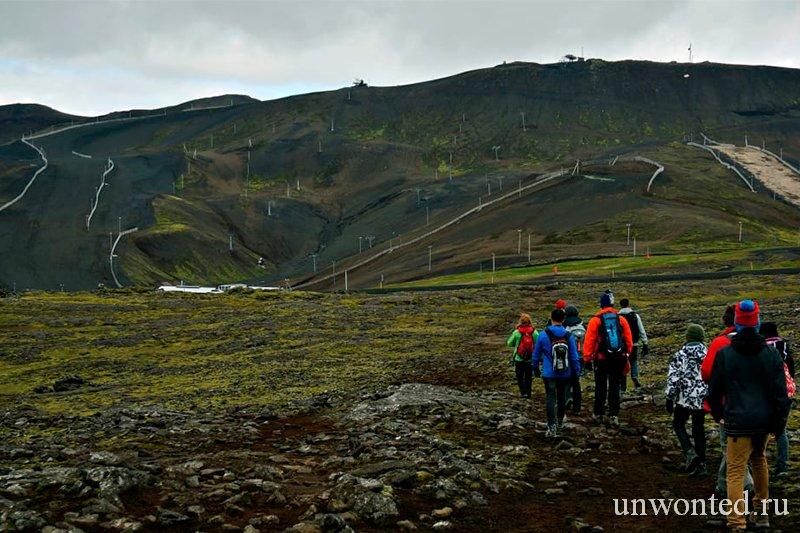 Лавовые поля Блафёль - дорога к вулкану Трихнукагигур