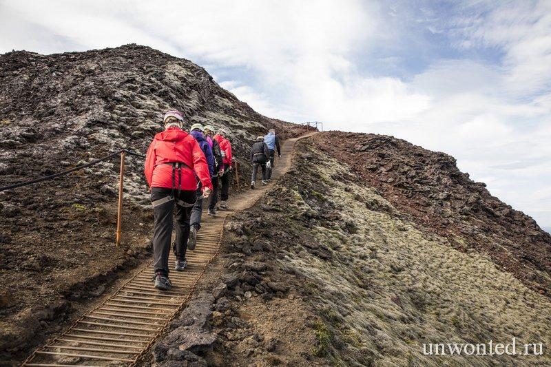 Подъем на вулкан Трихнукагигур - Кратер Три Пика