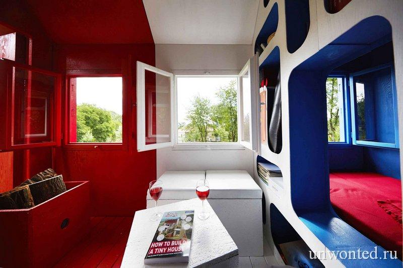 Цветокоординированные пространства в цветах французского флага