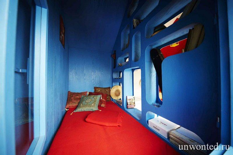 "Пространство для сна синего цвета - мини дом ""Франция"""