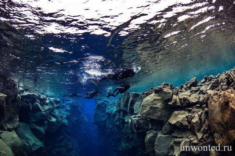 Снорклинг Silfra в Исландии
