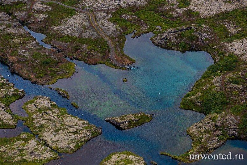 Разлом Silfra на территории Исландии