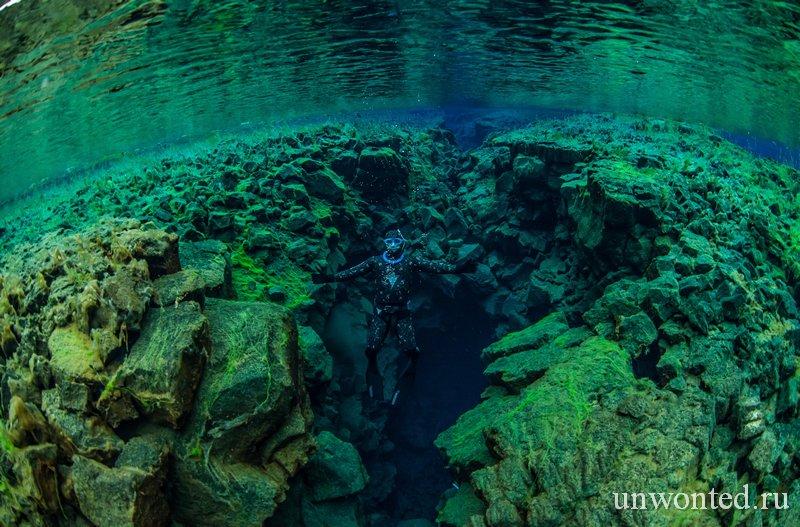 Дайвинг и подводное плавание в Silfra, Исландия