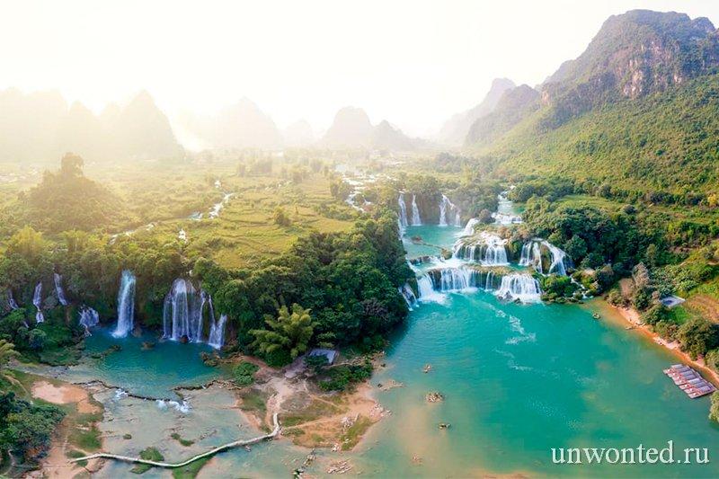 Достопримечательности Вьетнама - Водопад Дэтянь