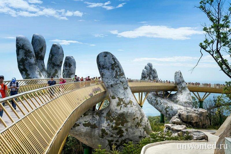 Достопримечательности Вьетнама - Золотой мост в Ба На Хилз