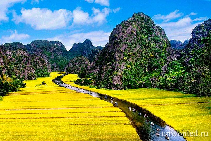 Достопримечательности Вьетнама - Долина Там Кок и река Ngo Dong