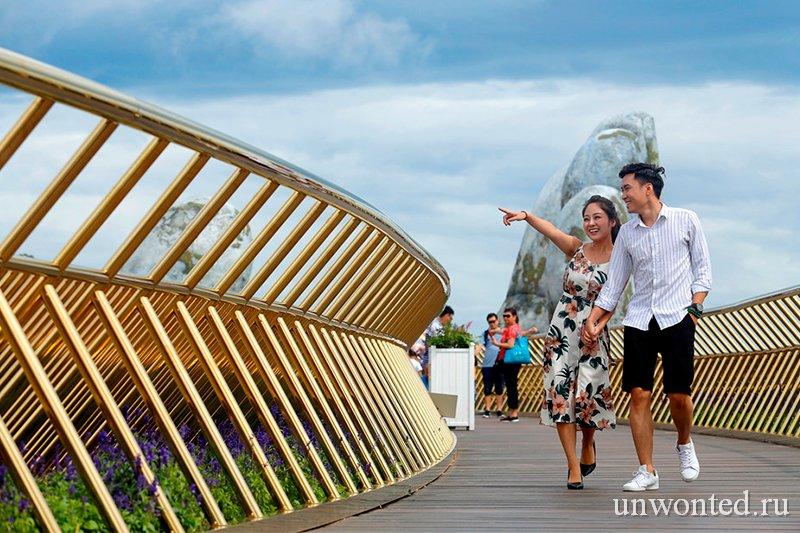 Золотой мост Дананг Вьетнам