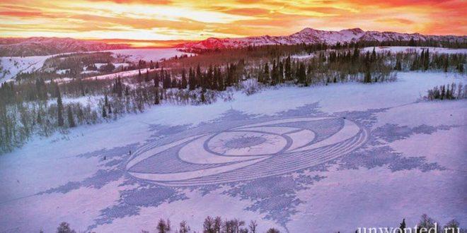 Геометрические узоры на снегу - Саймон Бек