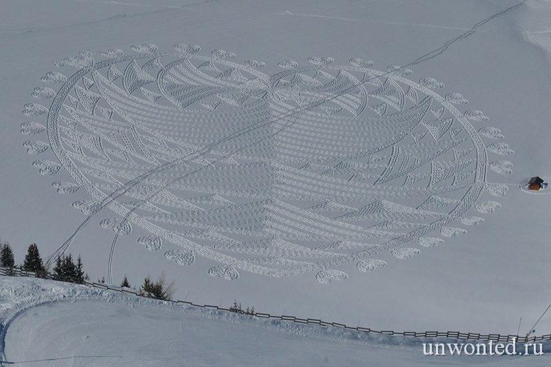 Сердце из геометрических фигур - узоры Саймона Бека