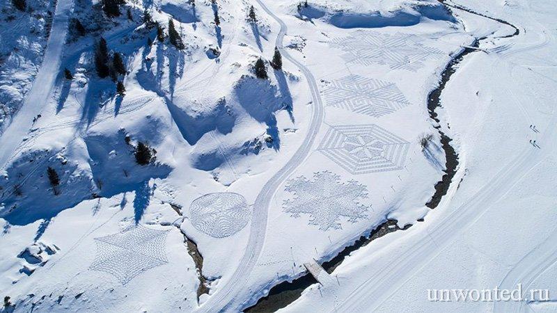 Геометрические узоры в форме снежинок - Саймон Бек