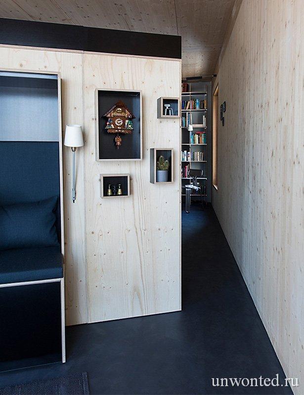 Контрастные полки с подсветкой - многофункциональный шкаф Kammerspiel