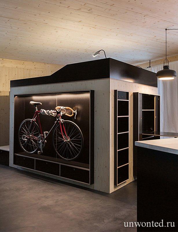Полка-парковка для велосипеда - шкаф Kammerspiel