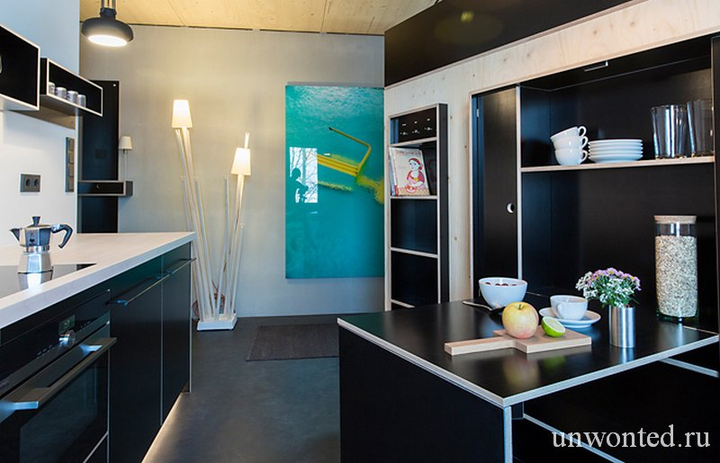 Кухня в малогабаритной квартире со шкафом Kammerspiel