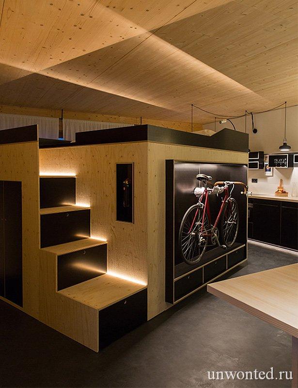 Лестница-шкаф с ящиками для хранения - Kammerspiel