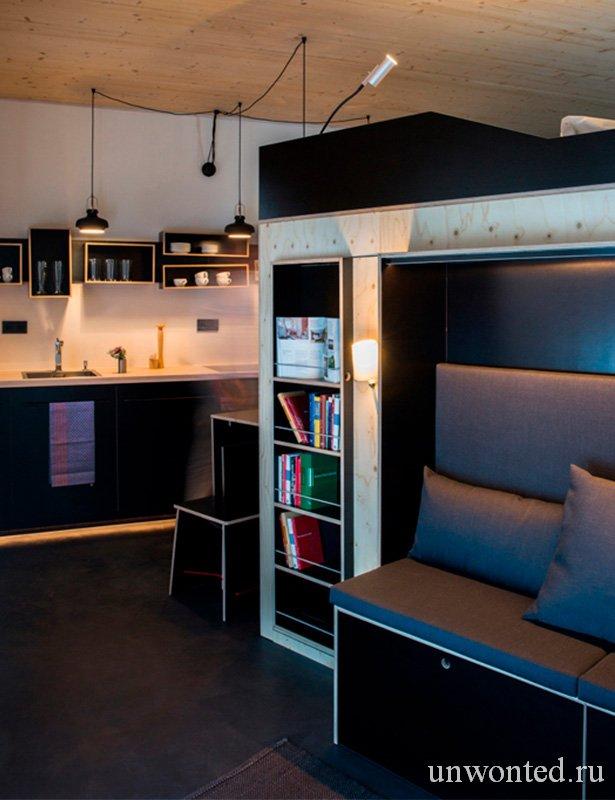 """Шкаф для малогабаритной комнаты """"все в одном"""" Kammerspiel"""