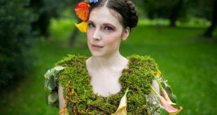 Платья из цветов листьев и ягод Николь Декстрас
