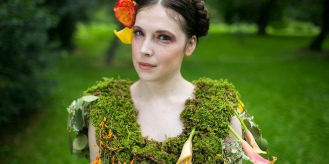 Пплатья из цветов листьев и ягод художника-эколога - Николь Декстрас
