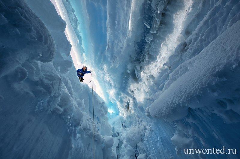 Ледяные туннели Антаркитиды