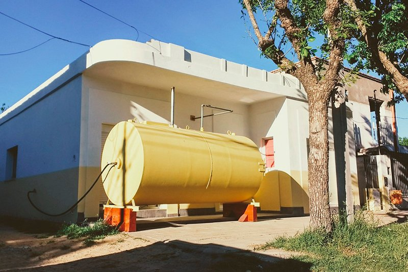 Дом в цистерне Мартина Марро