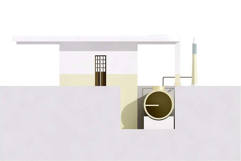Эскиз дома в цистерне